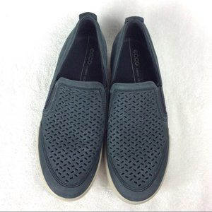 Ecco Collin Slip-Ons 41 Leather Perforated 7-7.5